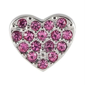 Picture of Crystal Pink Heart Charm